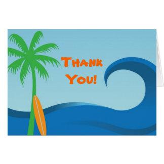 Hawaiian Surf Custom Thank You Note Card