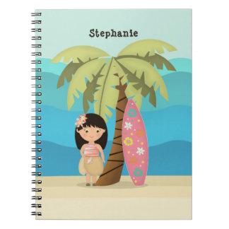 Hawaiian Surfer Girl Notebook