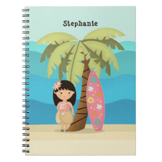 Hawaiian Surfer Girl Notebooks