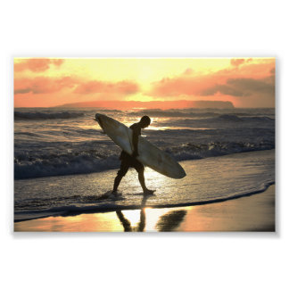 Hawaiian Surfer Heading Home Photo Print