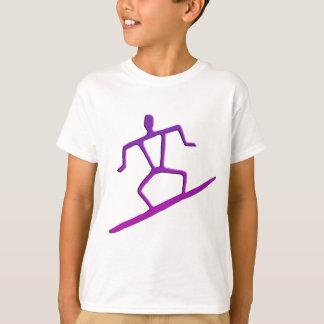 Hawaiian Surfer Petroglyph Kid's T-Shirt