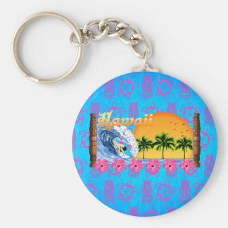 Hawaiian Surfing Key Ring