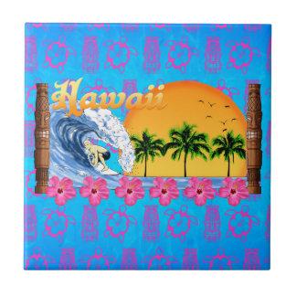 Hawaiian Surfing Tile