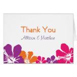 Hawaiian Thank You Stationery Note Card