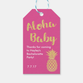 Hawaiian Themed Favor or Gift Tag