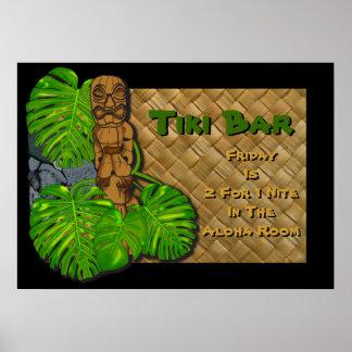 Hawaiian Tiki Bar Poster