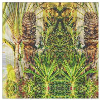 Hawaiian Tiki Fabric
