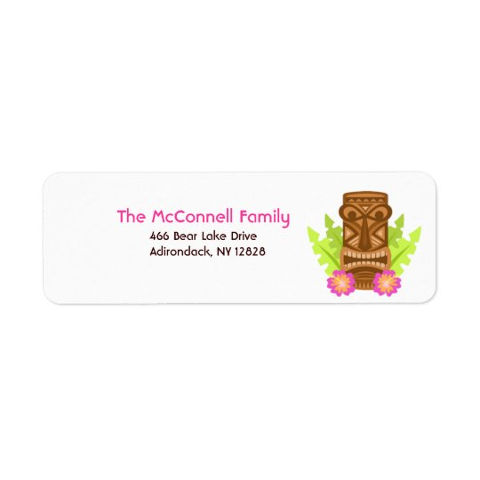 HAWAIIAN TIKI LUAU ADDRESS LABELS