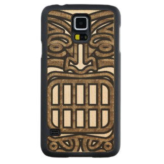 Hawaiian Tiki Mask Maple Galaxy S5 Slim Case