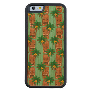 Hawaiian Tiki Repeat Pattern Carved Cherry iPhone 6 Bumper Case