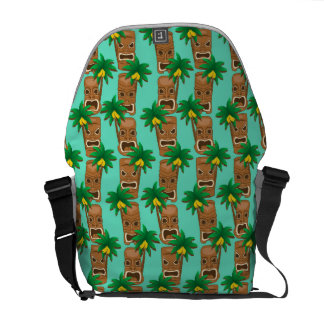 Hawaiian Tiki Repeat Pattern Courier Bags