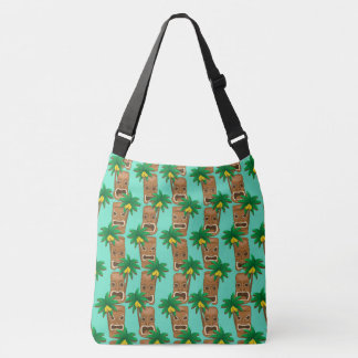 Hawaiian Tiki Repeat Pattern Crossbody Bag
