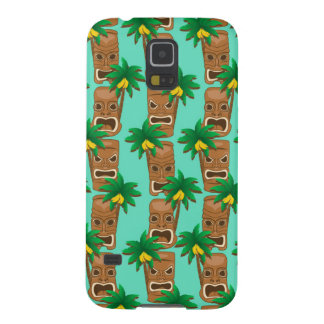 Hawaiian Tiki Repeat Pattern Galaxy S5 Cases