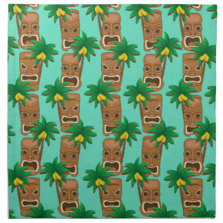 Hawaiian Tiki Repeat Pattern Napkin