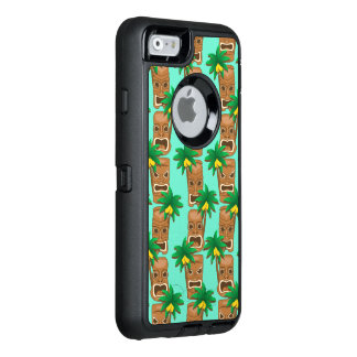 Hawaiian Tiki Repeat Pattern OtterBox Defender iPhone Case