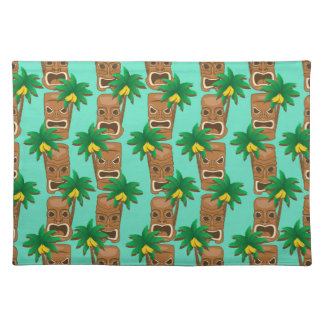 Hawaiian Tiki Repeat Pattern Placemat