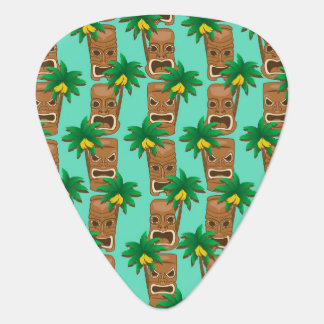 Hawaiian Tiki Repeat Pattern Plectrum