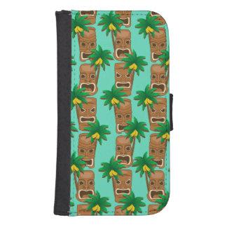 Hawaiian Tiki Repeat Pattern Samsung S4 Wallet Case