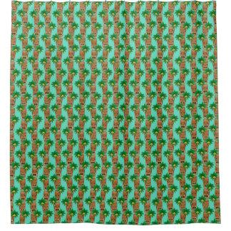 Hawaiian Tiki Repeat Pattern Shower Curtain