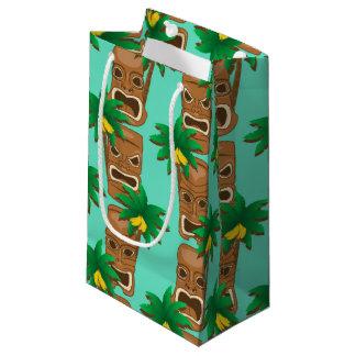 Hawaiian Tiki Repeat Pattern Small Gift Bag