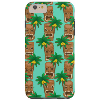 Hawaiian Tiki Repeat Pattern Tough iPhone 6 Plus Case