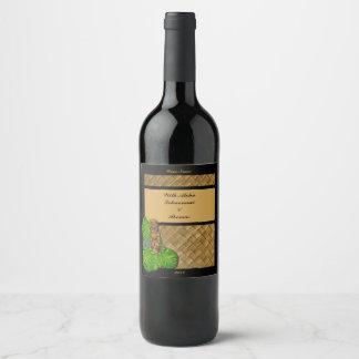 Hawaiian Tiki Wine Label