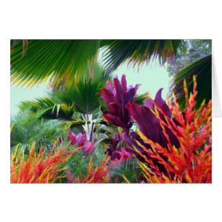 Hawaiian Tropical Christmas Theme Card