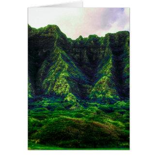 Hawaiian Tropical Mountain Range Card