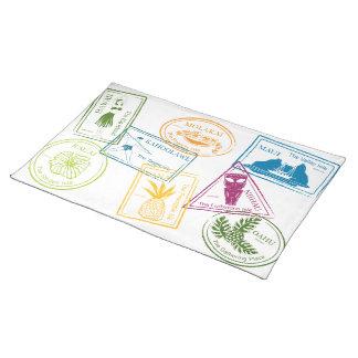 Hawaiian Tropical Passport Stamp Placemat