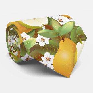 Hawaiian Tropical Pears Fruit Botanical Garden Tie