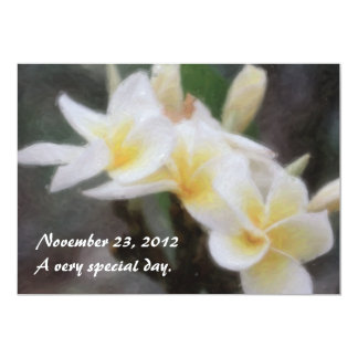 Hawaiian Tropical Plumeria Invitations