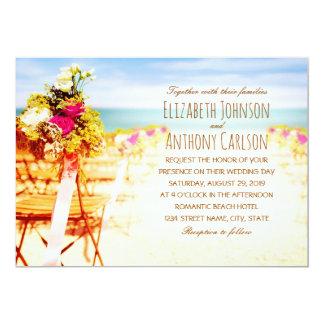 Hawaiian Tropical Rustic Beach Themed Wedding Card