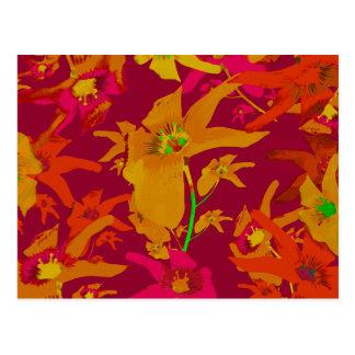 Hawaiian Tropical Style Lilies Collage Postcard