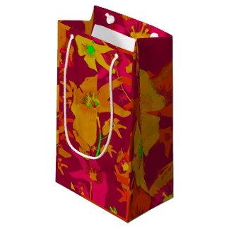 Hawaiian Tropical Style Lilies Collage Small Gift Bag