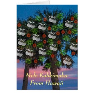 Hawaiian / tropical themed Christmas card. Card
