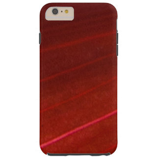 Hawaiian Variegated Red Leaf Tough iPhone 6 Plus Case