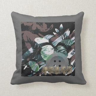 Hawaiian Vintage Style Design Throw Pillow