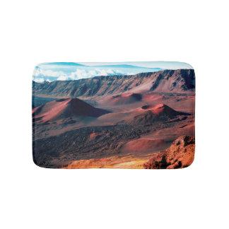 Hawaiian Volcano Crater Fields Bath Mat