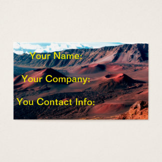 Hawaiian Volcano Crater Fields Business Card