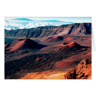 Hawaiian Volcano Crater Fields Card