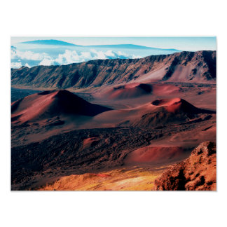Hawaiian Volcano Crater Fields Poster