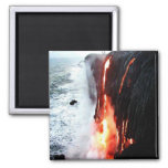 Hawaiian Volcano Magnet 2 Inch Square Magnet