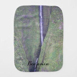 Hawaiian Waterfall Burp Cloth