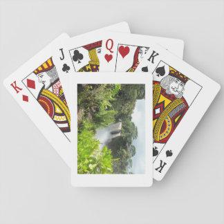Hawaiian Waterfall Playing Cards
