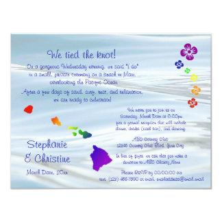 Hawaiian Wedding Card
