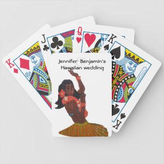 Hawaiian Wedding Favor Bicycle Playing Cards