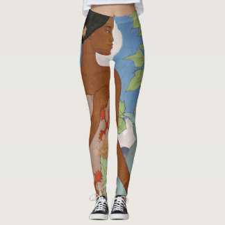 Hawaiian Woman - Arman Manookian Leggings