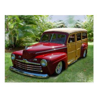 Hawaiian Woodie Post Cards