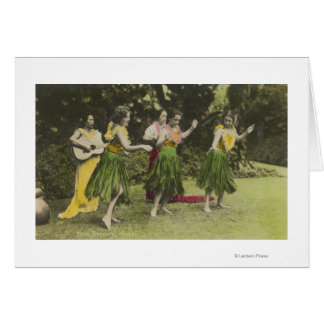 HawaiiHula Dancers in ColorHawaii Card