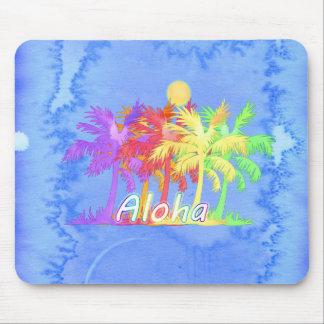 Hawaiin Aloha Palm Tree Watercolors Mouse Pad